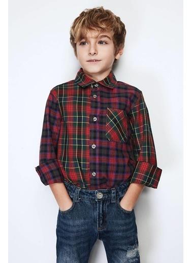 Nebbati Erkek Çocuk Desenli Gömlek Renkli